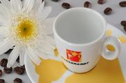 šálky na espresso a cappuccino Hausbrandt s květinami 06-2012
