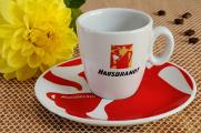 Tasse Kaffee und Dahlie 07-2012