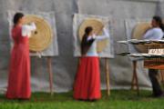 středověké hry v Městském parku