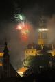 zámecká věž II půlnoční ohňostroj