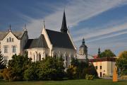 Senovážné náměstí s kostelem sv. Rodiny