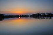 západ slunce nad rybníkem Široký