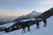 ranní výstup po ledovci Gran Paradiso