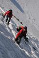 poslední metry výstupu před vrcholovou skálou