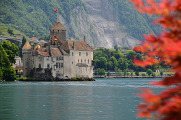 castle Chillon on the bank of  Lake Geneva
