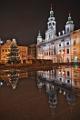 vánoční strom a budova radnice I