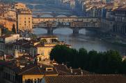 řeka Arno a Ponte Vecchio II