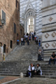 Siena - backstair of Duomo