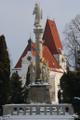 Horní Stropnice-kostel sv.Mikuláše s mariánským sloupem