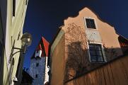 Panská Strasse und Rabenštejn Turm