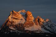 Monte Pelmo v ranním světle