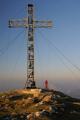 vrcholový kříž na Brunnkogelu s Traunsteinem I