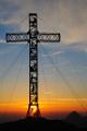 vrcholový kříž na Brunnkogelu s Traunsteinem III