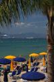 Cannes - soukromá pláž pod palmami I