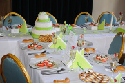 slavnostní svatební tabule - předkrm