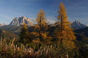 Monte Pelmo a Monte Antelao nad Valle d'Ampezzo