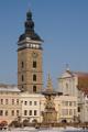 Stadtplatz Přemysl Otakar II. und Samsonbrunnen mit Schwarzer Turm