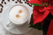 cappuccino a vánoční hvězda