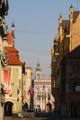 ulice Karla IV. a náměstí Přemysla Otakara II.