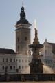 Samsonova kašna, Černá věž a kostel sv. Mikuláše