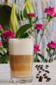 latte macchiato a karafiáty