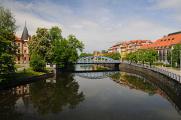 řeka Malše, Zátkovo nábřeží a Jihočeské divadlo
