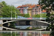 Krumlovský most přes řeku Malši u Krajského úřadu