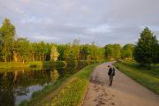 ráno na cyklistické stezce v Rožnově II