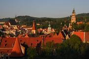 Staatsburg und Schloss Český Krumlov und Kirche Sankt Vitus