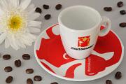 červený šálek na espresso Hausbrandt