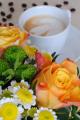růže a cappuccino