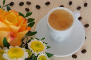 espresso a růže