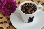 šálek na espresso Lavazza a jiřina