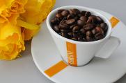 šálek na espresso Corsini a žluté růže