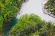soutok řek Verdon a Artuby