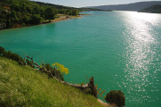 jezerní hladina Lac de Ste-Croix