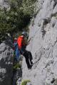 horolezec při slaňování