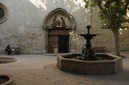Manosque - průčelí kostela Notre-Dame de Romingier