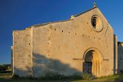 převorství Salagon - průčelí kostela Notre-Dame