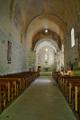 interiér kaple Notre-Dame de Lure