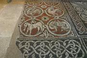 klášter Ganagobie - podlahová mozaika