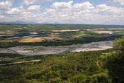 klášter Ganagobie - vyhlídka na údolí řeky Durance
