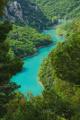 kaňon řeky Verdon z Col d'Ayen