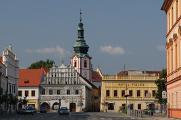 náměstí - Muzeum, Lékárna a hotel Fialka