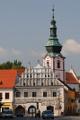 náměstí - Lékárna a věž kostela sv.Václava