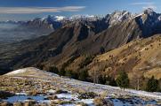 údolí Piavy a horská skupina Vette Feltrine