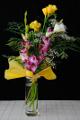 vázaná kytice frézií s orchideí I