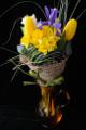 vázaná kytice - narcis, tulipán, frézie a kosatec I