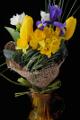 vázaná kytice - narcis, tulipán, frézie a kosatec III