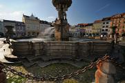 náměstí Přemysla Otakara II. a Samsonova kašna VII